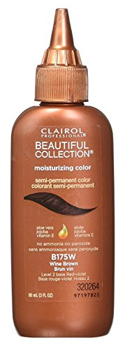 - Clairol Beautiful Collection #B175W Wine Brown 3 Ounce (88ml) (6 Pack)