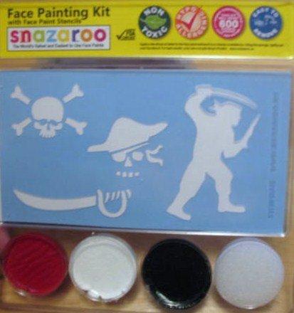 Snazaroo Pirate Skull Face Paint Kit with Stencils (Face Paint Skull)