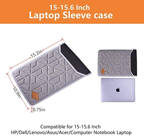 LTGEM Laptop Sleeve case for 13 Inch MacBook Air MacBook Pro Ultrabook of HP,Dell,Lenovo,Asus,Acer,LG Computer Notebook Laptop Case Shockproof Carrying Bag-Light Grey