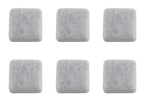 Midlee Petmate Replendish Replacement Charcoal Filter Compatible Dog Water Fountain Pack of 6 by