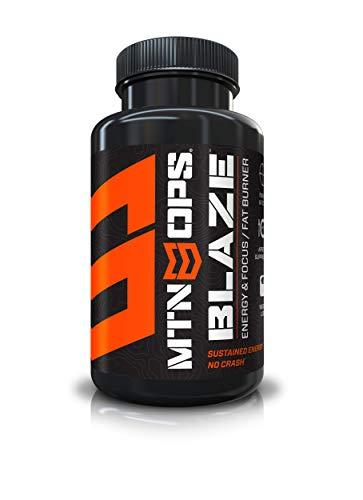 MTN OPS Blaze Energy Alert and Appetite Suppressant Supplement (60 Pills for 30 Servings)