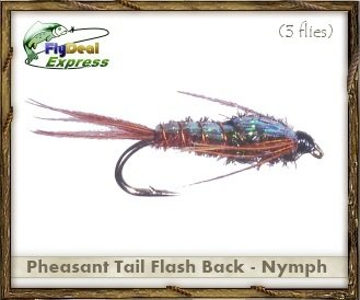 (Fly Fishing Flies - PHEASANT TAIL FLASH BACK NYMPH - Nymph (3-pack))