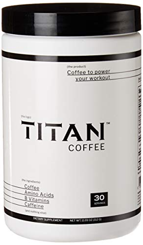 Titan Coffee, All Natural Coffee Pre-Workout for Men and Women, Only 4 Simple Ingredients, No Added Colors, Flavors, or Sweeteners - 30 Servings (Best Pre Workout Ingredients)