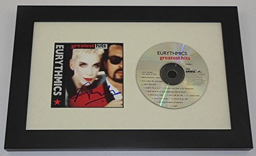 Eurythmics Greatest Hits Annie Lennox Hand Signed Autographed Music Cd Cover Framed Display Loa