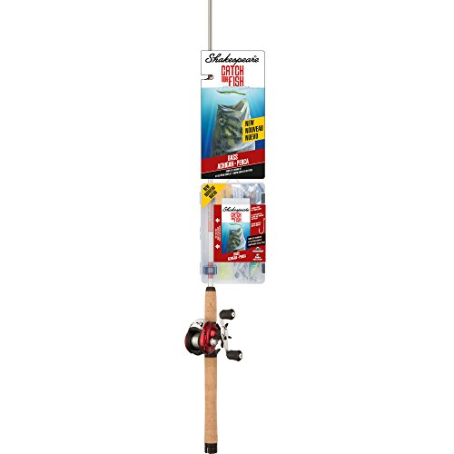 Shakespeare  Catch More Fish Bass Low Profile fishing Reel Rod Review