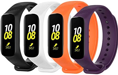 VICARA Compatible with Samsung Galaxy Fit E Bands, Adjustable Soft Silicone Strap Replacement Band for 2019 Samsung Galaxy Fit E SM-R375 Smart Watch