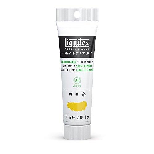 l Heavy Body Acrylic Paint 2-oz tube, Cadmium Free Yellow Medium (Acrylic Paint Mediums)