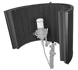 Rockville Large Studio Mic Isolation Shield Vocal Recording Booth (ROCKSHIELD 4)