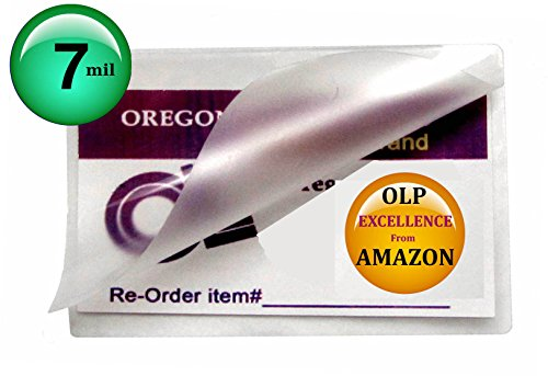 Qty 500 Hot 7 Mil Wallet Photo Laminating Pouches 2-3/4 x 3-3/4 Clear by Oregon Lamination Premium