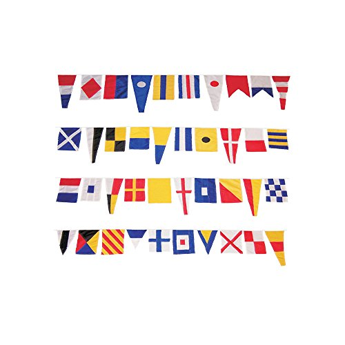 In the Breeze Maritime Signal Flags - 40 Different Decorative Flags - Over 40 Feet Long - Easy to -