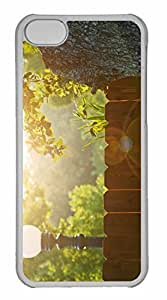 iPhone 5C Case, Personalized Custom Wood Fence for iPhone 5C PC Clear Case
