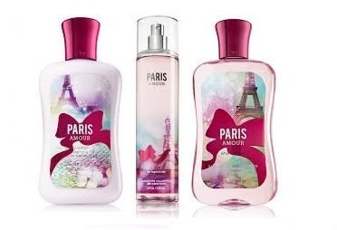 Bath & Body Works Signature Collection PARIS AMOUR Gift Set Body Lotion ~ Shower Gel & Fragrance Mist