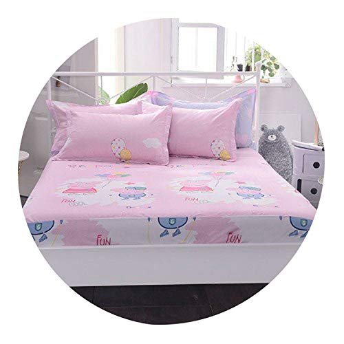 Cotton Fitted Sheet Lovely Flora Twin/Full/Queen Size Bedsheet Set ShamsFlower Colorful Striped Kids Children's Bed,Fitted Sheet 10,140cmX200cm - Buckle Helena