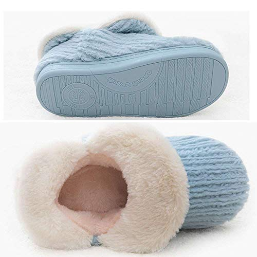 Women's Plush Indoor House Boots Warm Cotton Booties Slipper Cozy Knit Ankle qwOrqXU