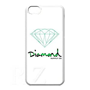 diamond supply co HD Phone Case for iPhone 5C Case (White)