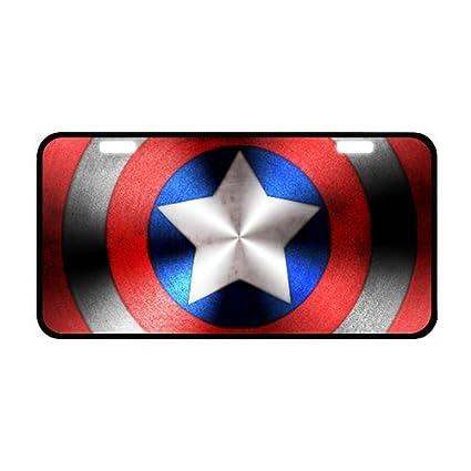 Captain America Chrome License Plate Frame