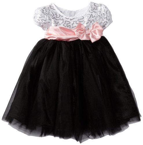Blueberi Boulevard Baby Girls' Special Occasion Silver Dress