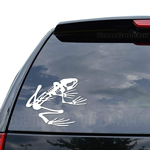 (Frog Skeleton Bones Decal Sticker Car Truck Motorcycle Window Ipad Laptop Wall Decor - Size (05 inch/13 cm Wide) - Color (Matte Black))