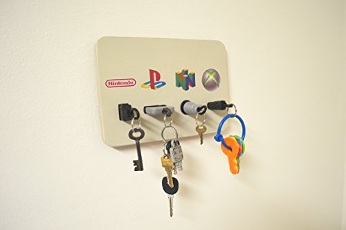 Video Game Plug Key Chain Holder Organizer Nintendo Nes, Playstation, Nintendo 64, and Xbox