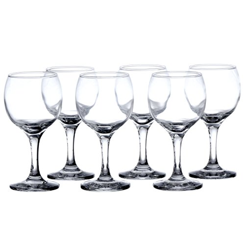 BISTRO 12-piece Wine Glasses Set (in 3 size), White, Red and Liquor Wine, Restaurant&Bar Quality, Durable Tempered Glass, Heavy Base, t.m. Pasabache (7 1/2 oz) by Pasabache (Image #2)'