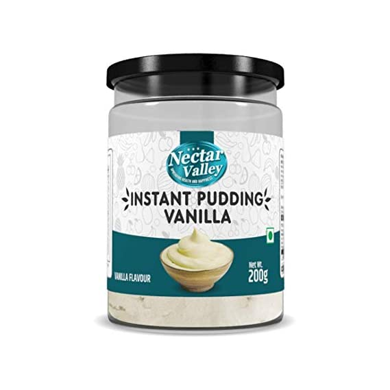 Bionova Nectar Valley Vanilla Instant Pudding Quick Creamy Desert Mix All You Need is Milk Vegetarian - 200 g
