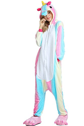 notte VineCrown Anime da Monopezzi Pigiami Attrezzatura Pigiama Colorful Adulti Costumi Costume Unicorno Cosplay travestimenti Animale camicie e Halloween Sport xqBAxOwr1
