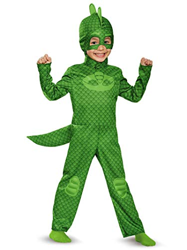 Gekko Classic Toddler PJ Masks Costume, Medium/3T-4T ()
