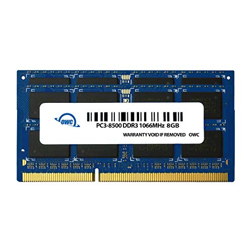 OWC 16GB (2 x 8GB) PC8500 DDR3 Non ECC 1066 MHz 204 pin SO-DIMM Memory Module (OWC8566DDR3S16P), for 2010 MacBook Pro, MacBook, Mac Mini, and 2009 iMac