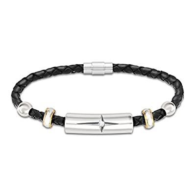 Protection And Strength For My Daughter Diamond Leather Bracelet by The Bradford Exchange