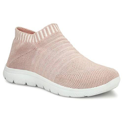 TECHNOFIT Womens Mesh Slip -on Casual Sport Shoes
