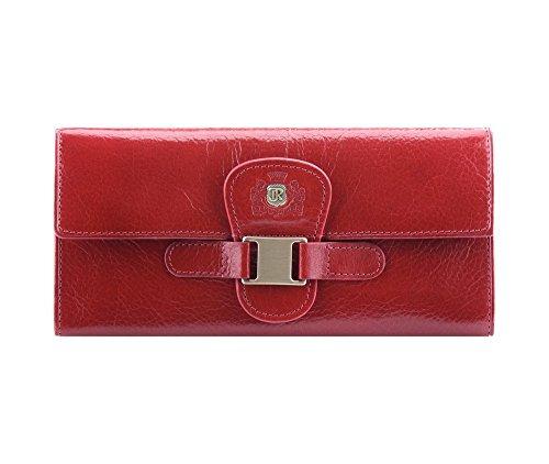 WITTCHEN portafoglio, Rosso, Dimensione: 9x19 cm - Materiale: Pelle di grano - 22-1-336-3
