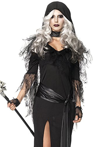 Leg Avenue Women's 2 Piece Sexy Soul Stealer Grim Reaper Costume, Black, Small/Medium - Lady Reaper Costumes