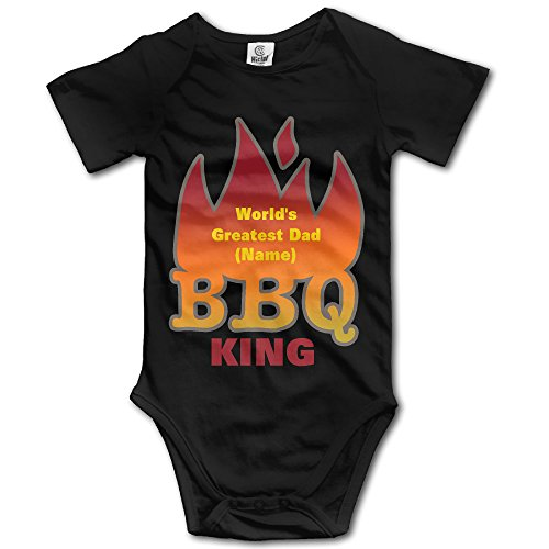 World's Greatest Dad BBQ KING Toddler Cute Baby Clothes Bodysuit In 4 Sizes