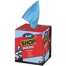 "Scott Kimberly-Clark 75190 Shop Towels, 10"" x 12"", Blue"