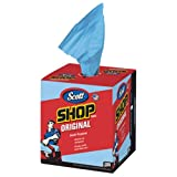 KIM75190 SCOTT Shop Towels, Blue, 200/Box, Boxes/Carton Not your average towel. Designed for the DIY. Strong enough to work when wet, these towels are ideal for cleaning up grease, liquids, oils and other spills.