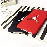 Air Jordan iPhone 6 plus (5.5 Zoll) funda Cover Carcasa casos Cubierta del teléfono Michael Jordan Chicago Bulls (nero)