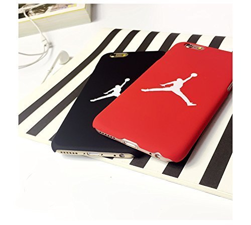 Air Jordan iPhone 6 plus (5.5 Zoll) funda Cover Carcasa casos Cubierta del teléfono Michael Jordan Chicago Bulls (nero) Megastore4