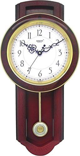 Buy Rikon Wooden Finished Plastic Pendulum Wall Clock 575 cm X