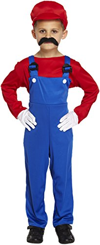 Boys Kids Super Mario Brothers Luigi Fancy Dress Costume Size Medium 7-9 Years Workman  sc 1 st  Amazon UK : kids super mario costume  - Germanpascual.Com
