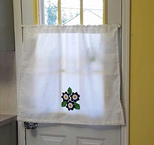 Amazon.com: Crochet Flowers Cafe curtains, Window Curtains ...