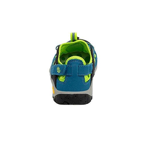 Brütting - Zapatillas de senderismo de Material Sintético para niño turquesa petróleo