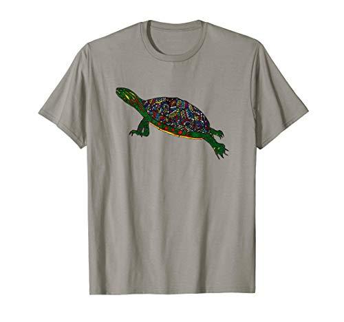 Painted Turtle T-Shirt Freshwater Turtle Aquarium Tee (Painted Turtles)