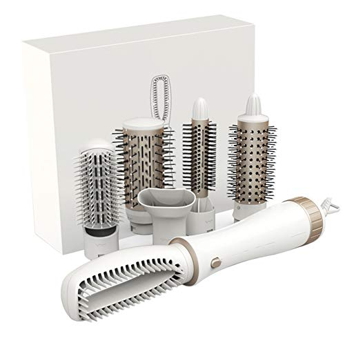 Kekailu Professional Curling Iron Electric Hair Dryer Curler Big Wave Styling Brush Comb White ()
