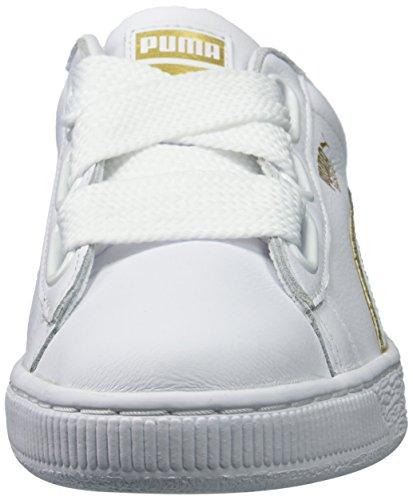 Pumabasket Heart gold White Basket Wn Puma Glitter Mujer Para rBqUdrAT