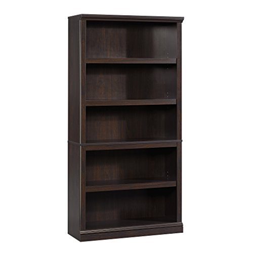 Sauder 5-Shelf Bookcase, Jamocha Wood Finish by Sauder