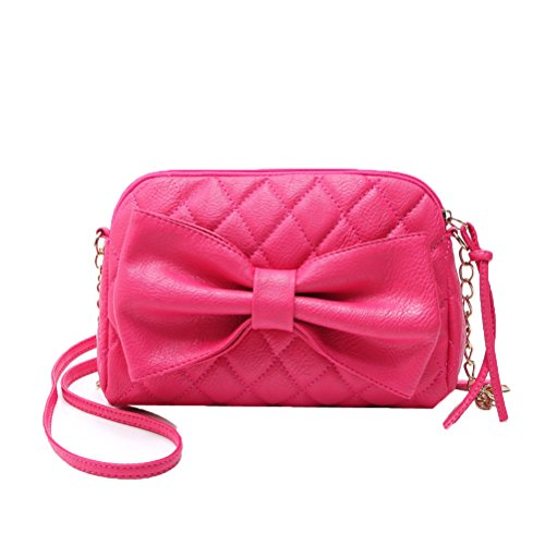 Donalworld Cute Coin Leather Mini Bow Shoulder Manmade Women Bag Pt3 rOxq5Fr