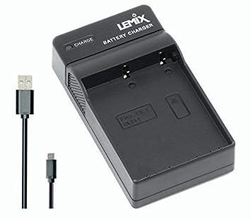 Lemix (BLH1) Cargador USB Ultra Slim para baterías Olympus BLH-1 y Compatible con cámaras Olympus OM-D (enumeradas a continuación)