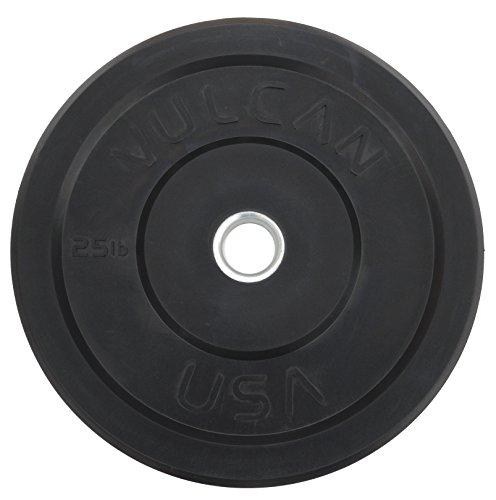 Vulcan Strength vulcrub25-ws Bumper Plate pair, 25 lb, Black
