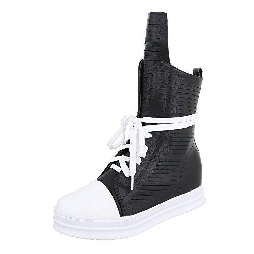 Ital Nero design Donna A Pantofole Stivaletto Z7nZwOrq