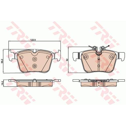 TRW GDB2071 Plaquettes DE Frein Boite 4 PCE